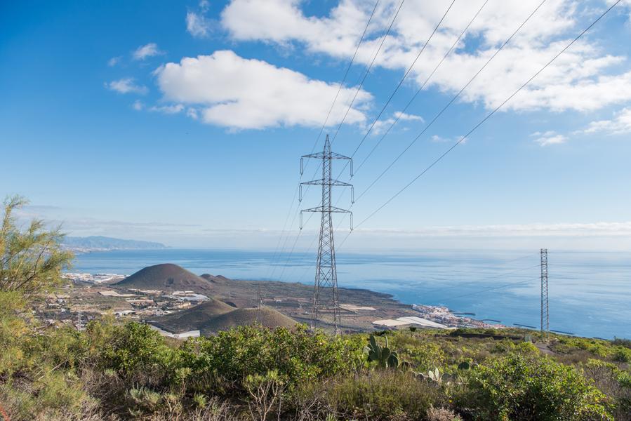 Blick auf das Meer und Landschaft im Osten von Teneriffa