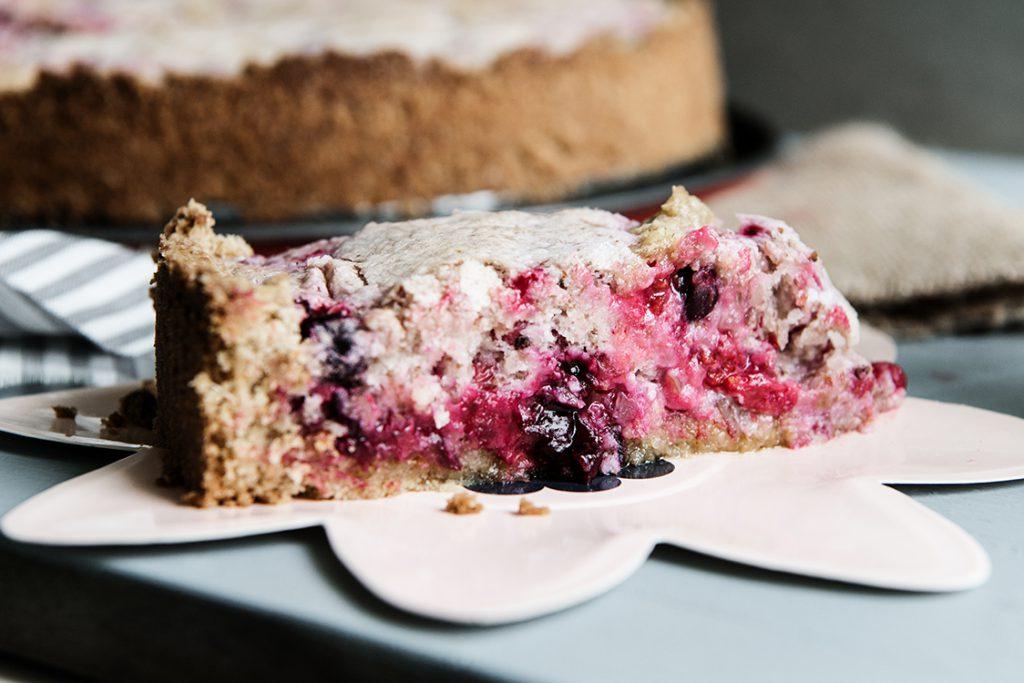 Johannisbeer Baiser Kuchen mit Vollkornmehl Backrezept Kuchen Sommerkuchen